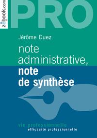 Livre numérique Note administrative, note de synthèse