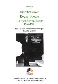 Livre numérique Entretiens avec Roger Goetze