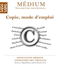 Livro digital Copie, mode d'emploi (Médium n°32-33, octobre-décembre 2012)