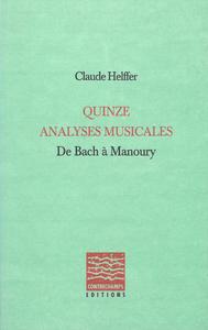 Livre numérique Quinze analyses musicales