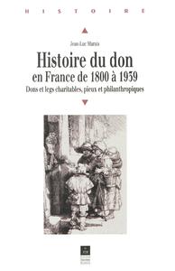 Electronic book Histoire du don en France de 1800 à 1939