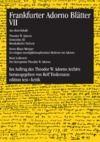 Electronic book Frankfurter Adorno Blätter VII
