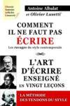 Libro electrónico Comment il ne faut pas écrire & l'art d'écrire enseigné en vingt leçons & les Tendons du style.