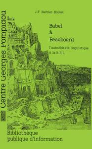 Livre numérique Babel à Beaubourg