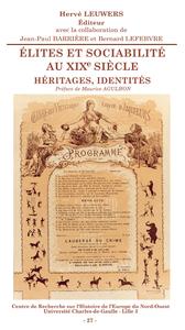 Livre numérique Élites et sociabilité au XIXe siècle