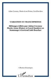 Electronic book Variation et francophonie
