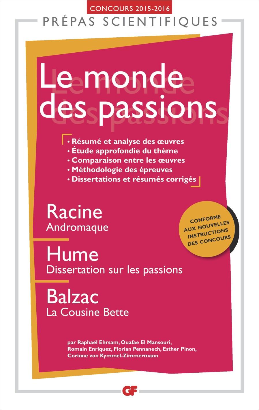 dissertation sur les passions hume résumé
