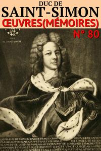 Livre numérique Mémoires du Duc de Saint-Simon