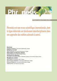 Livre numérique Phronesis. Vol. 5, numéro 3 & 4 | 2016