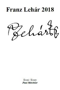 Livre numérique Franz Lehár 2018