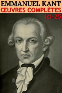 Livre numérique Emmanuel Kant - Oeuvres complètes
