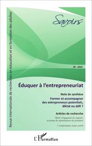 Livre numérique Éduquer à l'entrepreneuriat