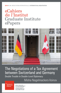 Electronic book The Negotiations of a Tax Agreement between Switzerland and Germany