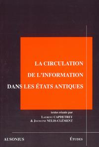 Livre numérique La circulation de l'information dans les états antiques