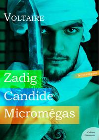Livre numérique Zadig, Candide, Micromégas
