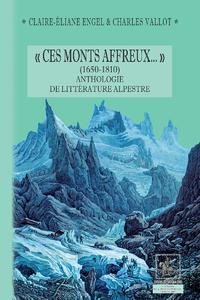 Livre numérique « Ces Monts affreux... » (1650-1810) anthologie de littérature alpestre
