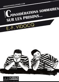 Livre numérique Considérations sommaires sur les prisons