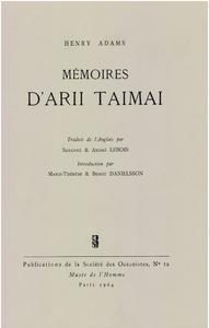 Livre numérique Mémoires d'Arii Taimai