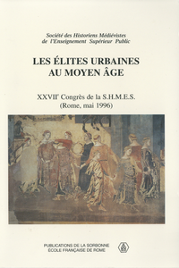 Livre numérique Les élites urbaines au Moyen âge
