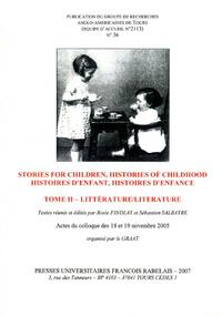 Livre numérique Stories For Children, Histories of Childhood / Histoires d'enfant, histoires d'enfance. Tome II