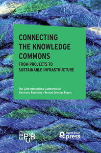 Livre numérique Connecting the Knowledge Commons — From Projects to Sustainable Infrastructure