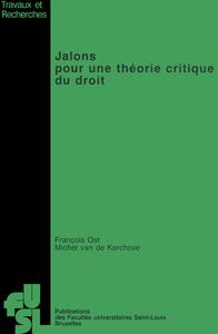 Livre numérique Jalons pour une théorie critique du droit