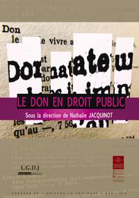 Livre numérique Le don en droit public