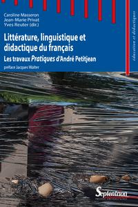Livre numérique Littérature, linguistique et didactique du français