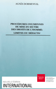 Electronic book Procédures onusiennes de mise en œuvre des droits de l'homme