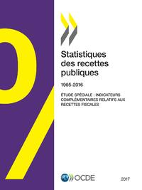 Livre numérique Statistiques des recettes publiques : 1965-2016