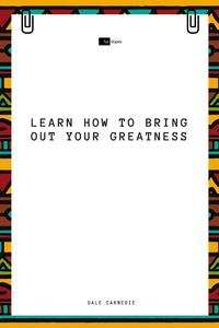 Electronic book Learn How to Bring Out Your Greatness