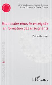 Livre numérique Grammaire rénovée enseignée en formation des enseignants