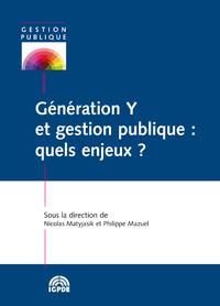 Livre numérique Génération Y et gestion publique: quels enjeux?