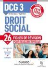 Electronic book DCG 3 Droit social - Fiches de révision