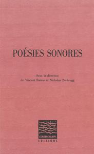 Livre numérique Poésies sonores
