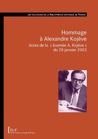 Livre numérique Hommage à Alexandre Kojève