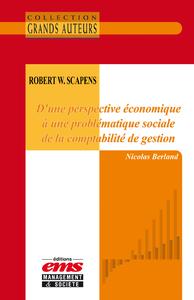 Libro electrónico Robert W. Scapens - D'une perspective économique à une problématique sociale de la comptabilité de gestion