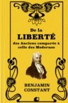 Livre numérique De la Liberté des Anciens comparée à celle des Modernes