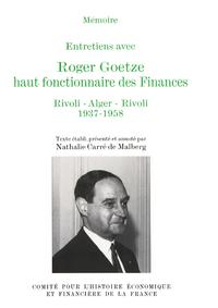 Livre numérique Entretiens avec Roger Goetze, haut fonctionnaire des Finances