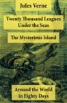 Electronic book Twenty Thousand Leagues Under the Seas + Around the World in Eighty Days + The Mysterious Island