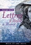 Livre numérique Lettres d'Italie à Musset