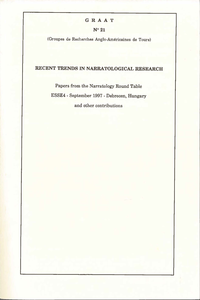 Electronic book Recent Trends in Narratological Research