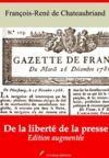 Libro electrónico De la liberté de la presse – suivi d'annexes