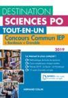 Livre numérique Destination Sciences Po - Concours commun IEP 2019 + Bordeaux + Grenoble