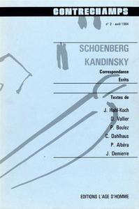 Livre numérique Schoenberg - Kandinsky. Correspondance, écrits