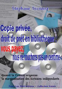 Livro digital Copie privée, droit de prêt en bibliothèque : vous payez, nous ne touchons pas un centime