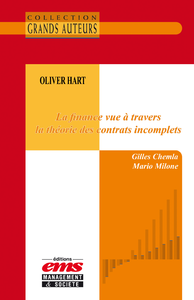 Livre numérique Oliver Hart - La finance vue à travers la théorie des contrats incomplets