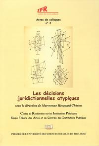 Livre numérique Les décisions juridictionnelles atypiques
