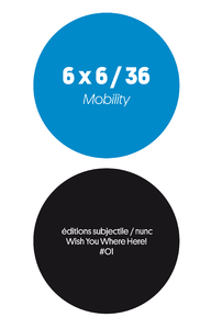 Livre numérique 6 x 6 / 36 - Mobility