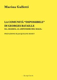"""Electronic book La comunità """"impossibile"""" di Georges Bataille"""